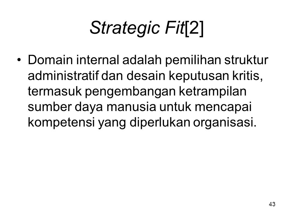 Strategic Fit[2]